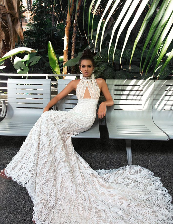 fabulous mermaid style dress, with a two-piece
